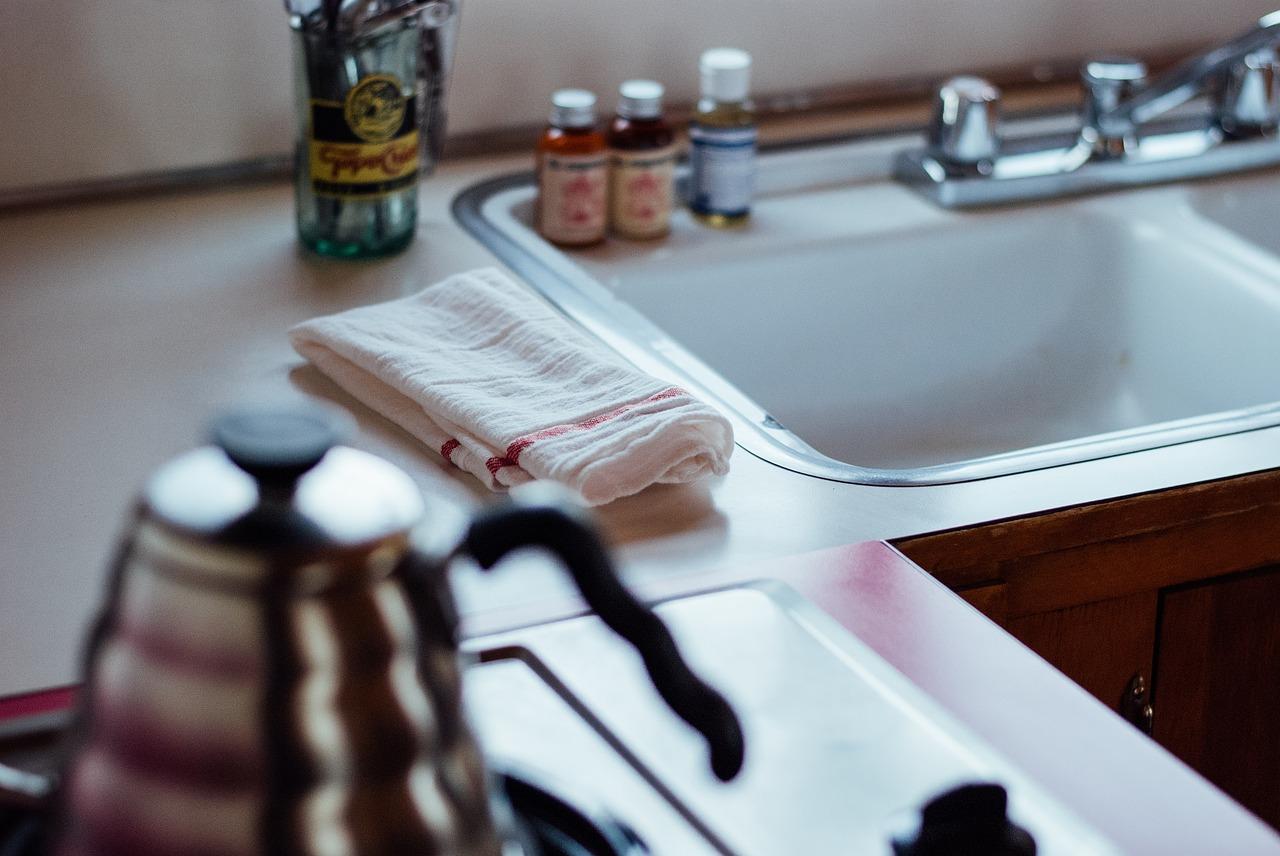 kitchen, sink, cloth